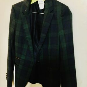 Zara blazer scotch plaid pattern